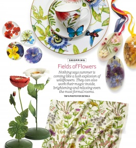 House Beautiful May 2015: Maravilha's Sea Queen & Botanical Color's Wild Oasis