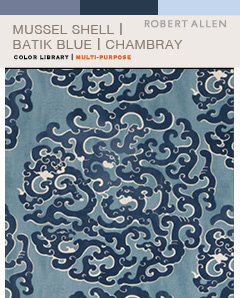 Mussel Shell-Batik Blue-Chambray
