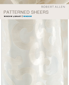 Window Library: Patterned Sheers