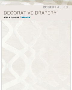 Window Library: Decorative Drapery Warm Colors