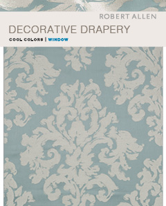 Window Library : Decorative Drapery Cool Colors