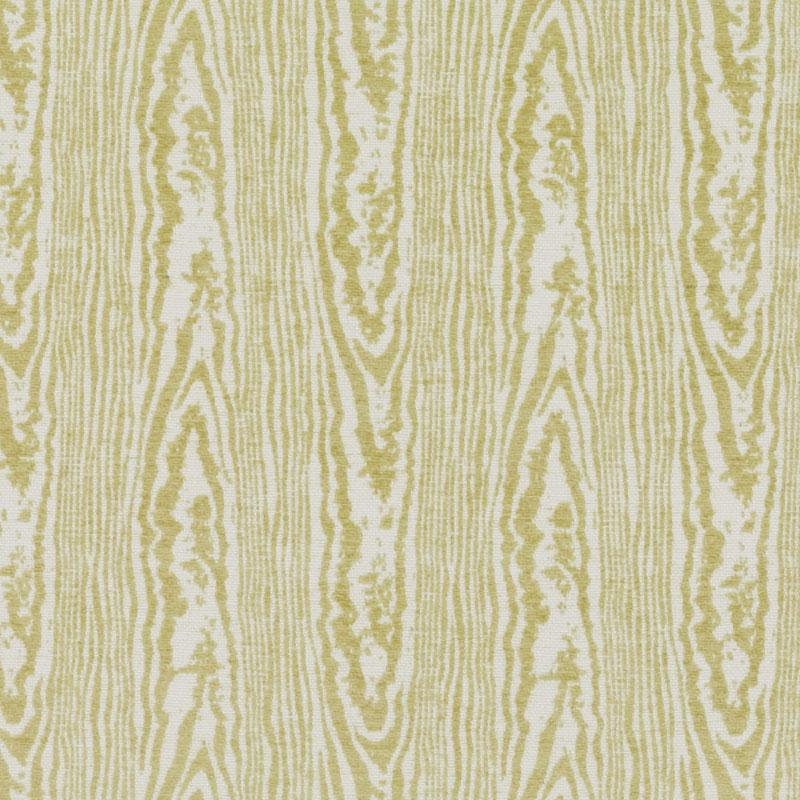Wood faux bois fabric in citron yellow by Robert Allen Design