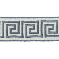 Greek Key Braid | Calypso Blue