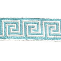 Greek Key Braid | Turquoise