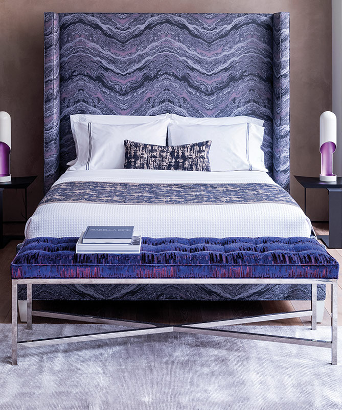 Beautiful Shown: Print Inspirations Custom Printed Faux Leather Headboard In Cosmic  Skin, ...