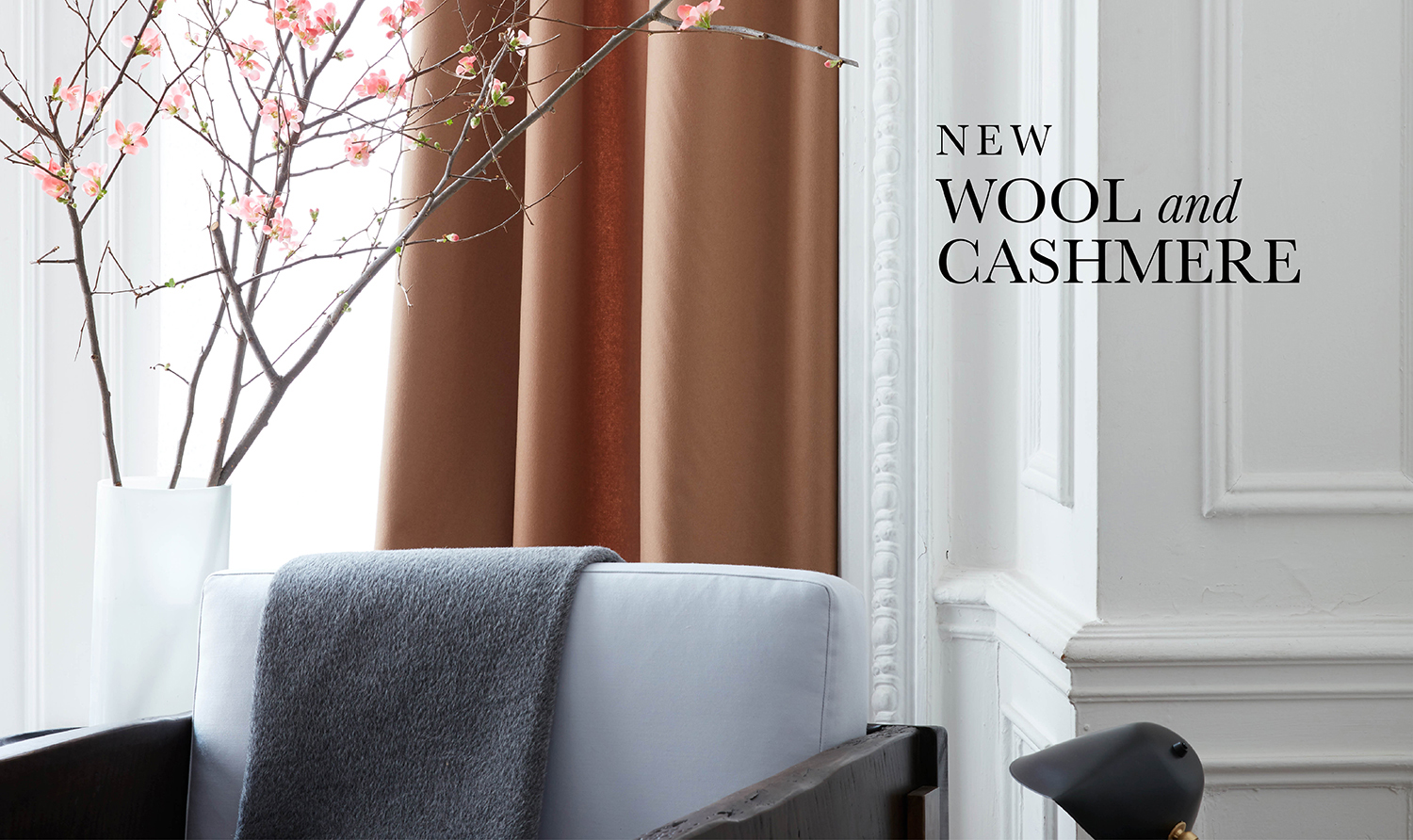 wool and cashmere solida Fabric Collection